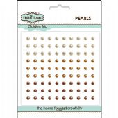 The Hobby House Self Adhesive Pearls - 3mm Golden Trio - HH308